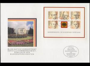 Schweiz/San Marino: Numisbrief 100. Geburtstag Auguste Piccard 1981, 5 Franken