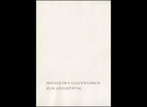Minister-Faltkarte 20 Jahre DDR, Beiblatt Glückwünsche 7.2.1970 Schulze Minister