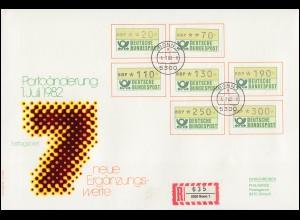 Klappkarte Postmat Brühl / Rheinland mit seinen Postämtern, SSt BRÜHL12.2.90