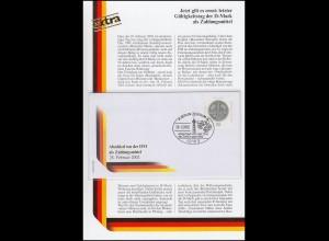 Sonderblatt Letzter Gültigkeitstag der D-Mark als Zahlungsmittel 28.2.2002