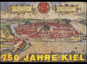 1598 Stadt Kiel - Viererblock in Klappkarte OPD Kiel mit ESSt BONN 12.3.1997i