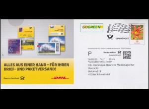 Block 4 Konrad Adenauer, EF auf R-FDC HANNOVER-HERRENHAUSEN 19.4.68 nach Letter