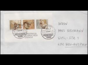 Block 16 Literaturnobelpreisträger Hauptmann Hesse Mann EF Bf SSt STUTTGART 1978