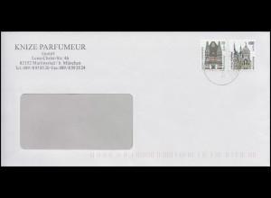 2187 BC + 2188 BC SWK 10+100 selbstklebend MiF Fensterbrief MÜNCHEN 15.11.01