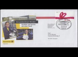 2223 Grußmarke Werbebrief Versandzentrum Weiden SSt WEIDEN 15.12.01 nach Kerpen