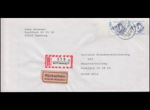 1340+1341+1342 SWK 50+60+80 Pf je als Paar MiF Wert-Bf. BERLIN 13.4.88 nach Bonn