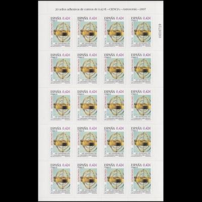 Spanien 4202 Gregorianischer Kalender 20x 42 Cent 2007 - auf Folienblatt **