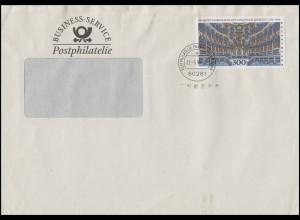 1983 Bayreuth 300 Pf. EF Brief Business-Service Postphilatelie FRANKFURT 22.6.98