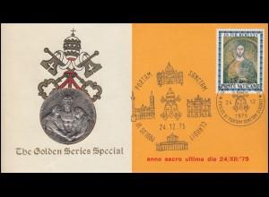 Vatikan Numisbrief Goldene Serie Special Heiliges Jahr 24.12.75, Silber-Medaille