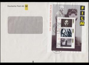 Block 33 Deutscher Film EF auf Fensterbrief Deutsche Post BRIEF ZENTRUM 4.4.97