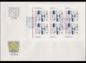 Portugal 1675 Azulejos - Kleinbogen auf Schmuck-FDC Lissabon / Lisboa 15.11.1985