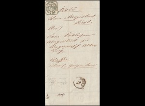 Ungarn Dienstpost Geburtsurkunde für den Militärdienst aus PESTH 8.5.1859