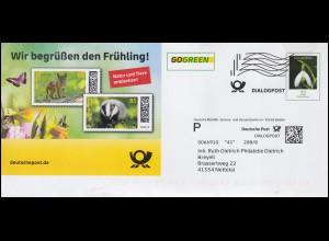 Block 39 dokumenta Kassel: amtlicher Prägeschwarzdruck der Post