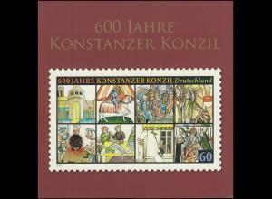 Folder der Deutschen Post: 600 Jahre Konstanzer Konzil **/ESSt Bonn+Berlin 2014