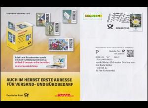 SBZ 166-179 Niedersedlitz 16 Werte mit Aufdruck 76 Sammlerbrief NIEDERSEDLITZ