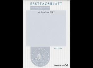 ETB 40/2002 Weihnachten - fehlende Marken und fehlender Stempel - Selten!