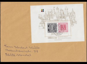 Block 46 IBRA Nürnberg 1999: Block als EF auf R-Brief NETTETAL 31.12.99