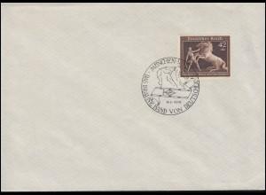 699 Das Braune Band auf Blanko-Brief mit passendem SSt MÜNCHEN-RIEM 30.7.1939