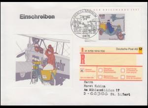 1947 Tag der Briefmarke aus Block 41 auf FDC per EE mit ESSt BERLIN 17.9.1997