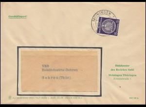 DDR Dienst 15 Pf. Zirkel EF Fensterbrief Geschäftspost Holzkontor MEINIGEN 1959