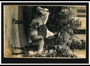 Tiere-AK Kinder: Mädchen auf dem Pferd, WILTZ 28.5.1916