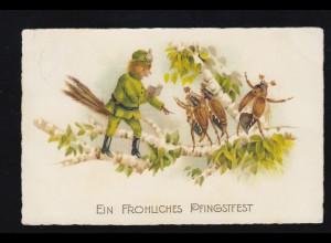 Tiere Pfingsten vermenschlichter Vogelsoldat, sing. Maikäfer, LÜSTRINGEN 26.5.26