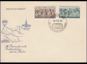 426-427 Radfernfahrt Friedensfahrt 1954 - Satz auf Schmuck-FDC ESSt BERLIN