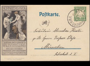 Bayern PP 15 Jubiläums-Landes-Ausstellung 1906, NÜRNBERG 11.5.1905 Ortspostkarte