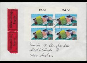 Zeppelinpost LZ 129 Hindenburg Nordamerikafahrt 6.5.-9.5.36, Zuleitung Stuttgart