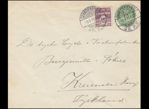 Deutsche Zensur auf Bulgarien R-Brief Flugzeug-Frankatur 385+387 SOFIA 17.5.1940