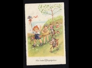 Tiere-AK Pfingsten Maikäfer musizieren mit Kinderchor, KÖLN 7.5.1940