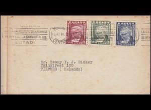 Spanien 941-943 Goya - Satz auf Brief MADRID 30.10.1946 nach Tilburg/Holland