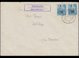 691 Heinemann 120 Pf. auf Paketzustelliste Poststelle II SCHLAMMERSDORF 10.11.72