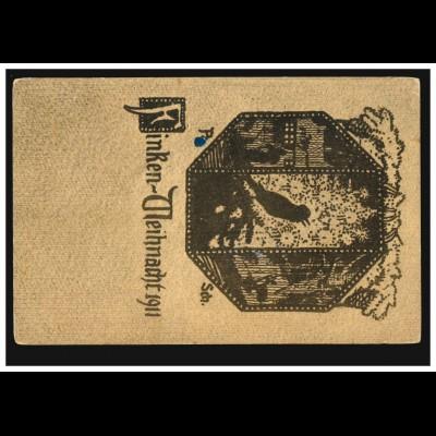 Tier-AK Finken-Weihnacht 1911, BERLIN NW 87 i 23.11.1911