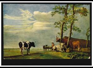 Künstler-AK Paul Potter: Kühe auf der Weide, ungebraucht, um 1920