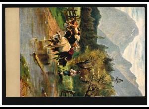 Künstler-AK Rinderherde - Almabtrieb, FRANKFURT / MAIN 4.3.1907