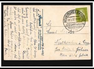 Tiere-AK Kühe, SSt NEUKIRCHEN (ERZGEB.) STRUMPFWAREN TRIKOTAGEN 18.3.1933