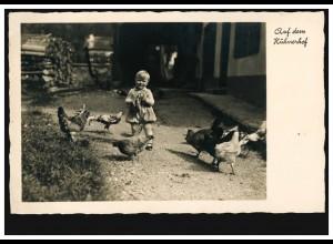 Foto-AK Auf dem Hühnerhof, HEILBRONN 4.7.1936