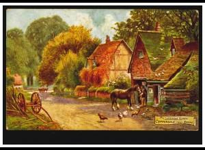 AK Coppersale bei Epping / Essex: Bauernhaus mit Pferd und Hühner, ungebraucht