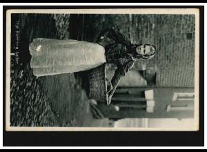 Foto-Ansichtskarte The Herring Seller - Die Heringsverkäuferin, gelaufen 1909