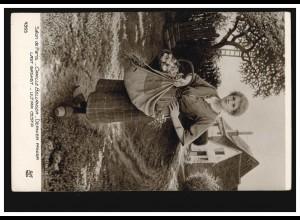 Künstler-AK Camille Bellanger: Der letzte Korb Frau mit Äpfeln und Kräutern 1922