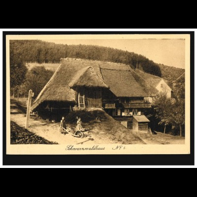 Foto-AK Schwarzwaldhaus Nr. 6 - Bauernhaus, ungebraucht, um 1930