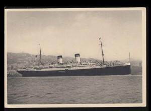 Foto-AK Schiffe: Italien Dampfer AUGUSTUS, 18.2.1936