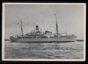 Foto-AK Schiffe: Dampfer P.-D. USSUKUMA Deutsche Ost-Afrika-Linie, ungebraucht