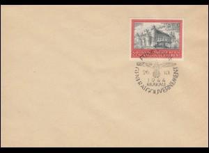 125 5 Jahre GG 1944 - Blanko-FDC ESSt KRAKAU 26.10.44, Marke innen BPP-gepr.