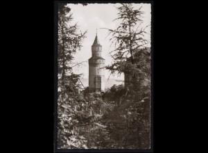 Landpost-Stempel 6271 Eschenhahn auf AK Idstein Hexenturm, IDSTEIN 1963