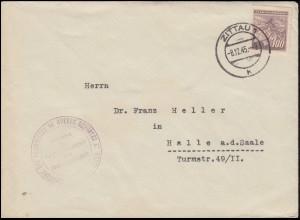 Brief mit BS Ministerium für Kriegsgefangene und Flüchtlinge ... ZITTAU 8.12.45