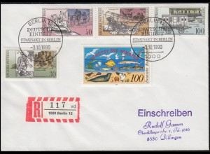 Sonderstempel BERLIN 3.10.1990 DEUTSCHE EINHEIT STAATSAKT IN BERLIN auf R-Brief