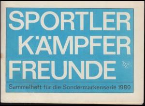 Sammlerheft für die Sondervignettenserie SPORTLER KÄMPFER FREUNDE 1980