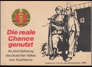 Sammlerheft für die Vignettenserie 40 Jahre Befreiung vom Faschismus 1985